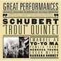 "Album Schubert: piano quintet in a major, op. 114, D. 667 ""trout"" de Pamela Frank / Barbara Bonney, Emanuel Ax, Yo Yo Ma, Rebecca Young, Edgar Meyer, Pamela Frank / Emanuel Ax / Yo-Yo Ma / Rebecca Young..."