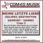 Compilation Meine letzte liebe - geliebt, gestritten, geweint - vorbei, folge 2 avec Mary Roos / Pasch, Kolibabka / Christopher Drix / Fritz, Esp / Ute Freudenberg...
